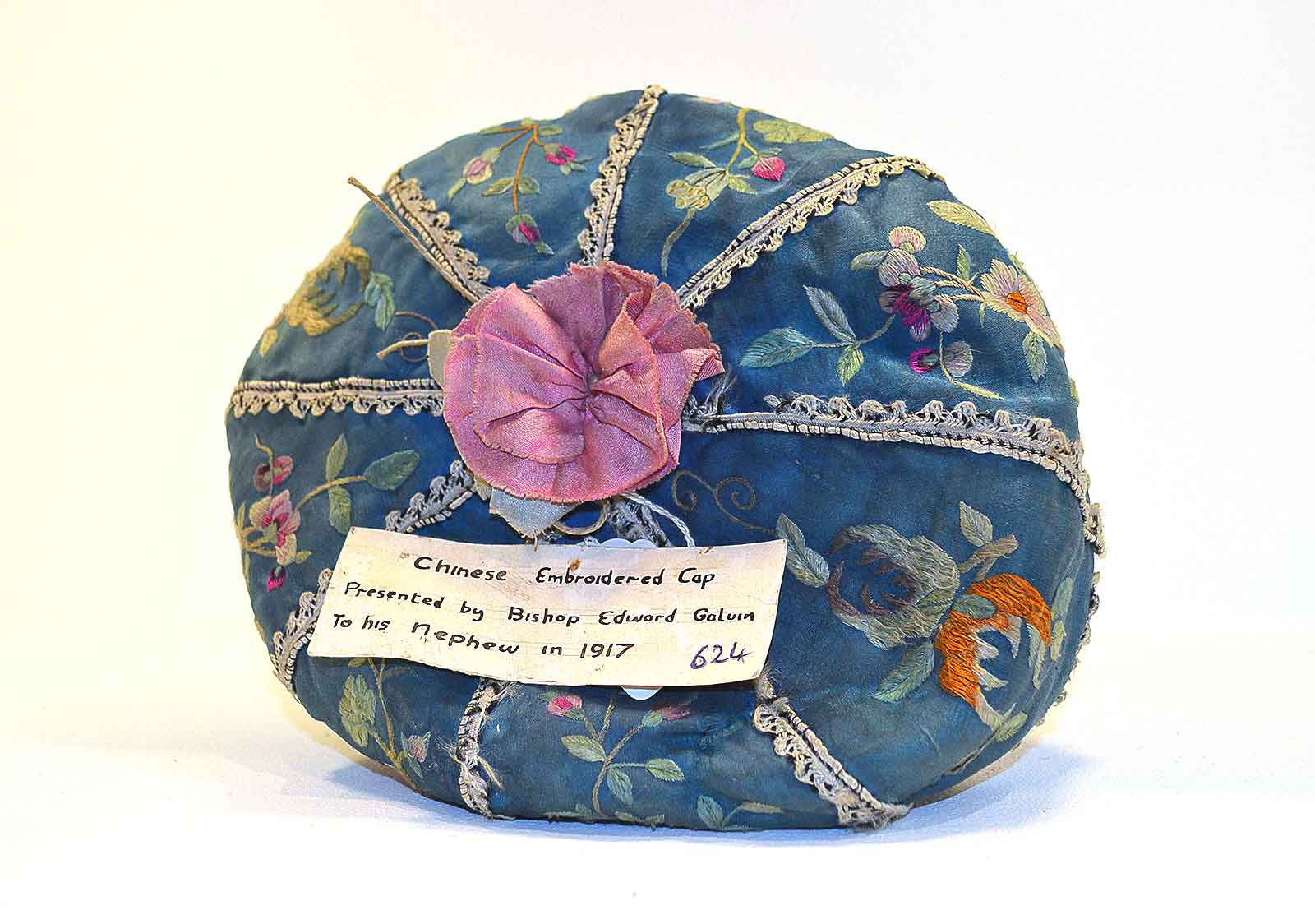 Chinese-Embroidered-cap-from-1917-belonging-to-Bishop-Edward-Galvin