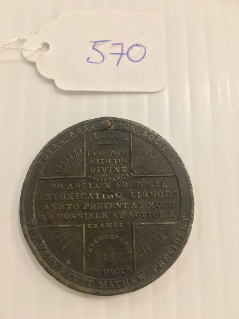 Cork Total Abstinence Medal 1